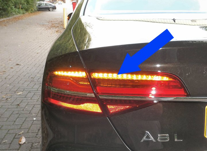 Genuine Audi A8 4h Rear Led Lights With Dynamic Indicators
