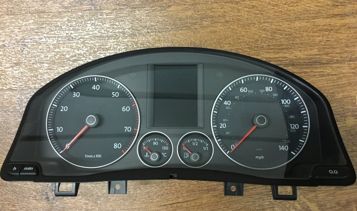 GENUINE VW HIGHLINE RED DIS INSTRUMENT CLUSTER UPGRADE