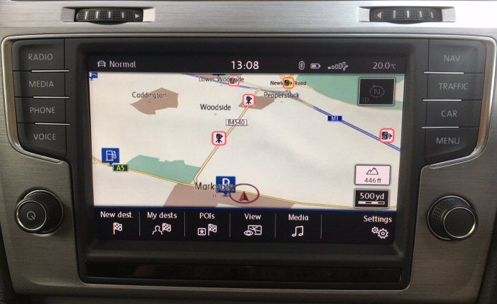 Vw Discover Pro MIB II Navigation Retrofit with Smart Phone