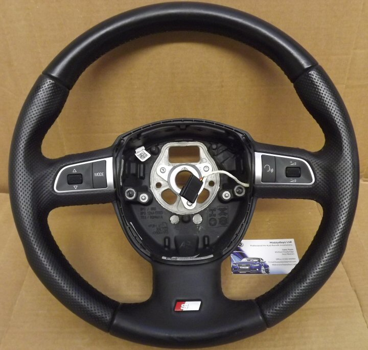 Audi Round S Line Multi Function Steering Wheel Used
