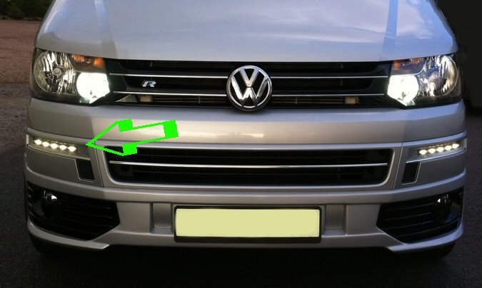 Genuine Vw Accessory Front Led Lights T5 1 Supply Amp Fit